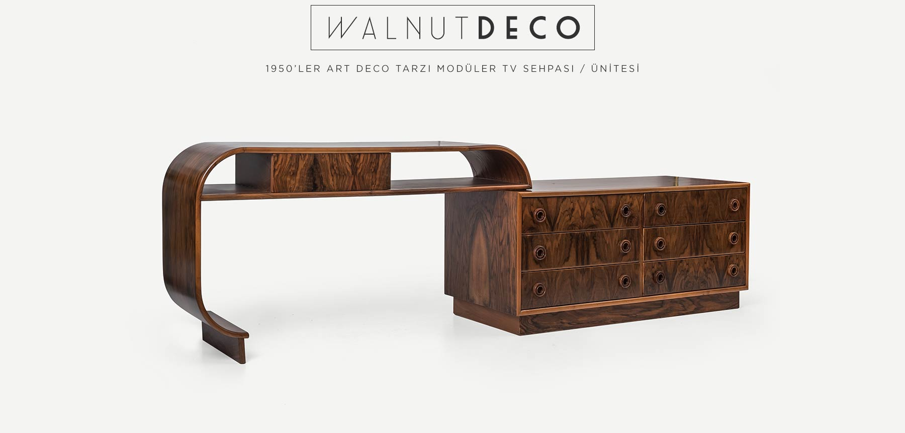 WALNUTDECO ART DECO TARZI TV SEHPASI / KONSOL'in resmi