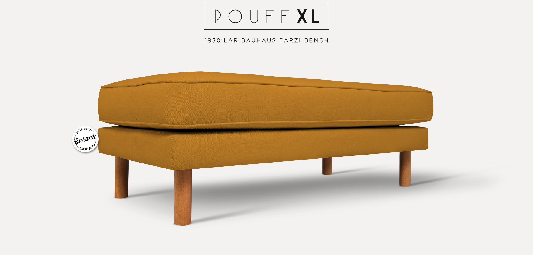 Neoretro™ Pouff Xl Hardal Bank'in resmi