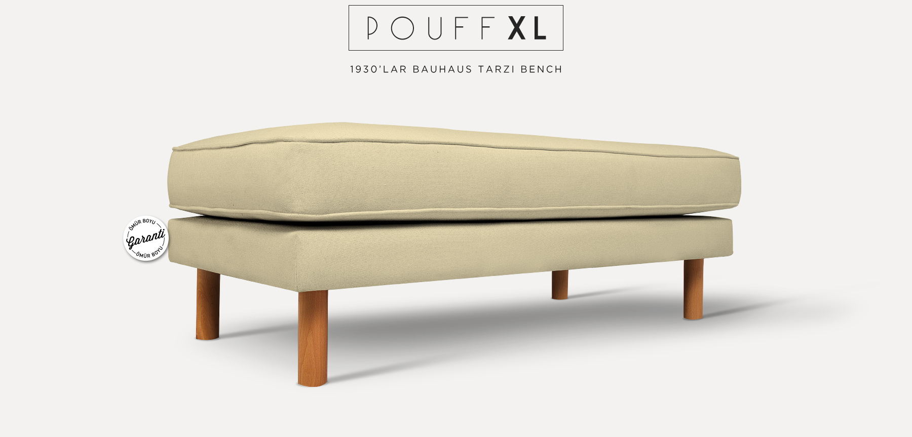 Neoretro™ Pouff Xl Bej Bank'in resmi