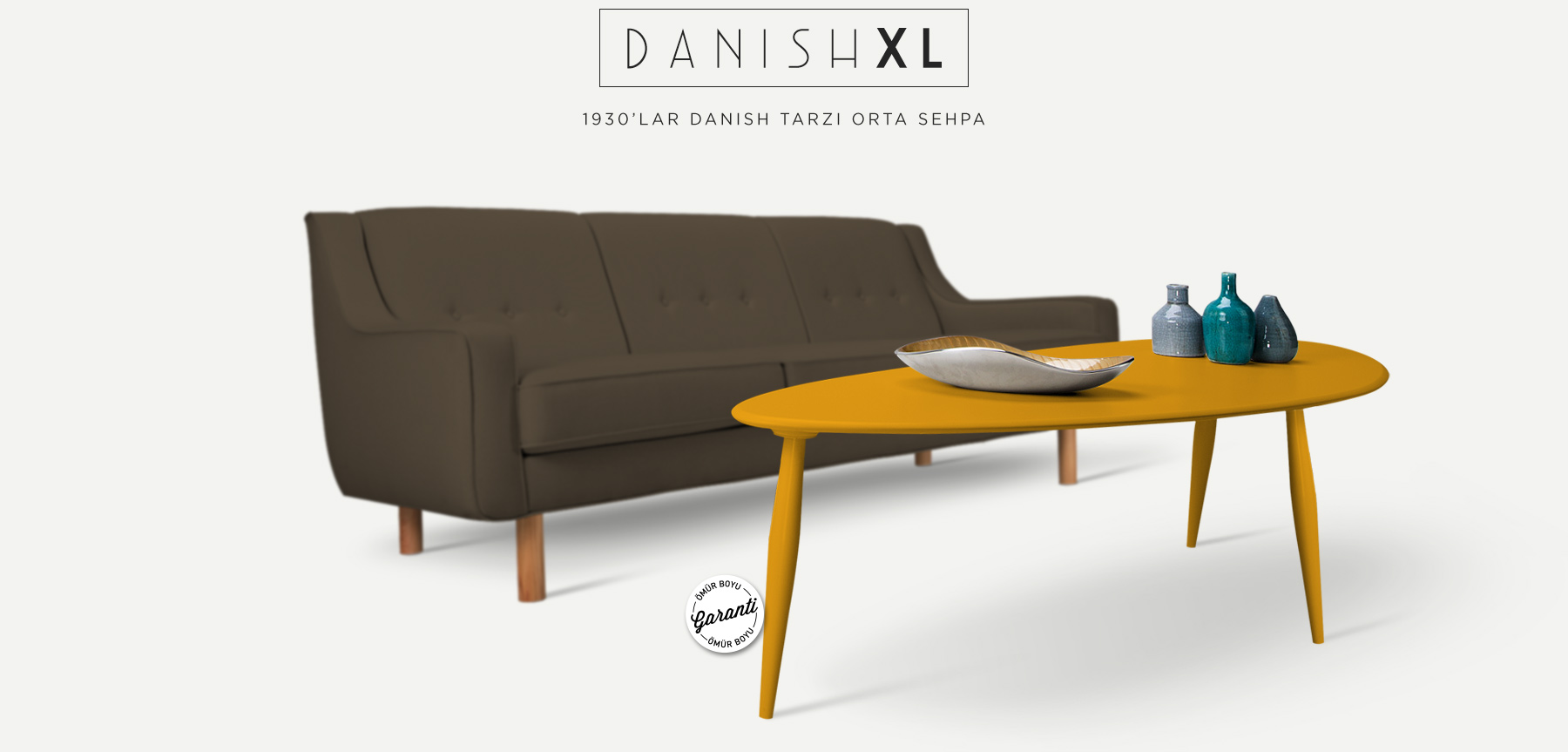 DANISH™ XL Hardal Orta Sehpa'in resmi