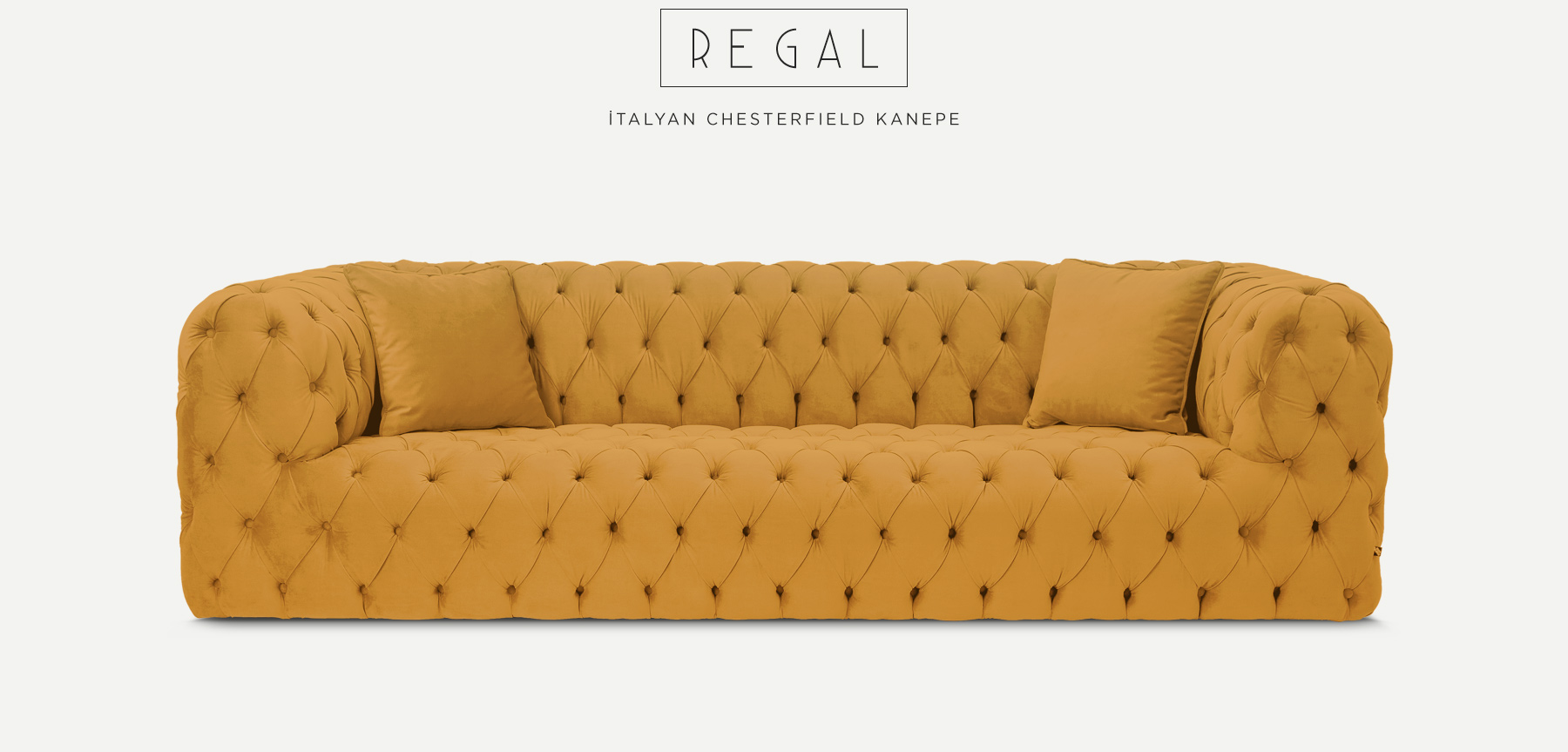 Regal Üçlü Hardal İtalyan ChesterfIeld'in resmi