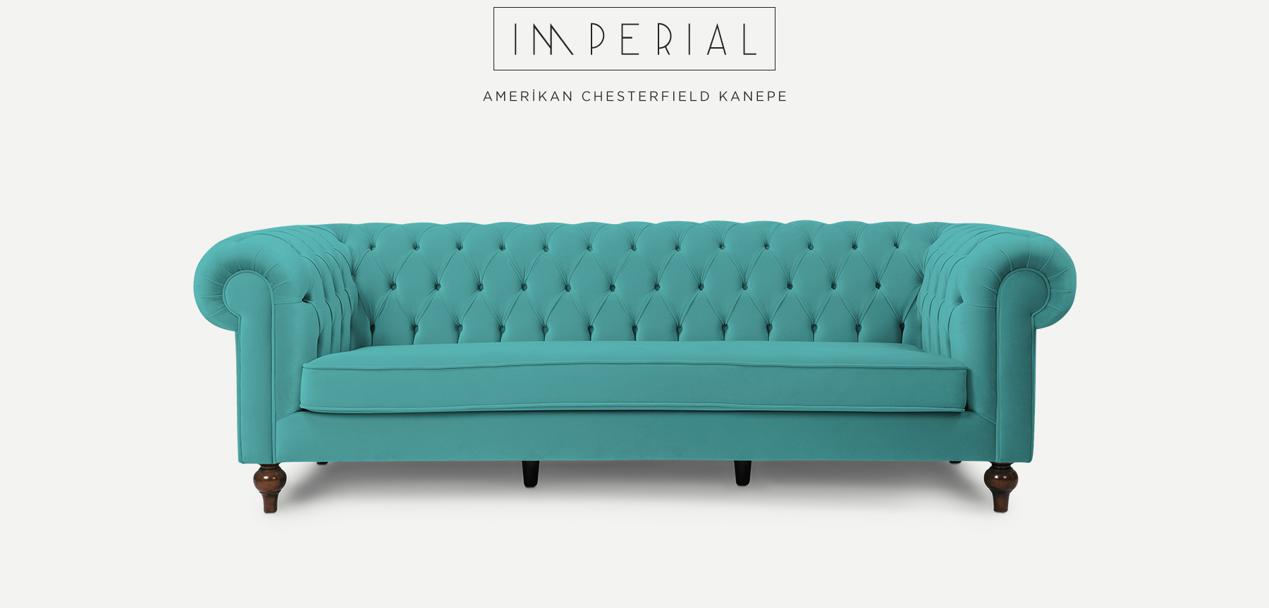 IMPERIAL Üçlü Turkuaz Amerikan CHESTERFIELD'in resmi