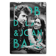 BOB DYLAN & JOAN BAEZ RETRO KANVAS TABLO'in resmi