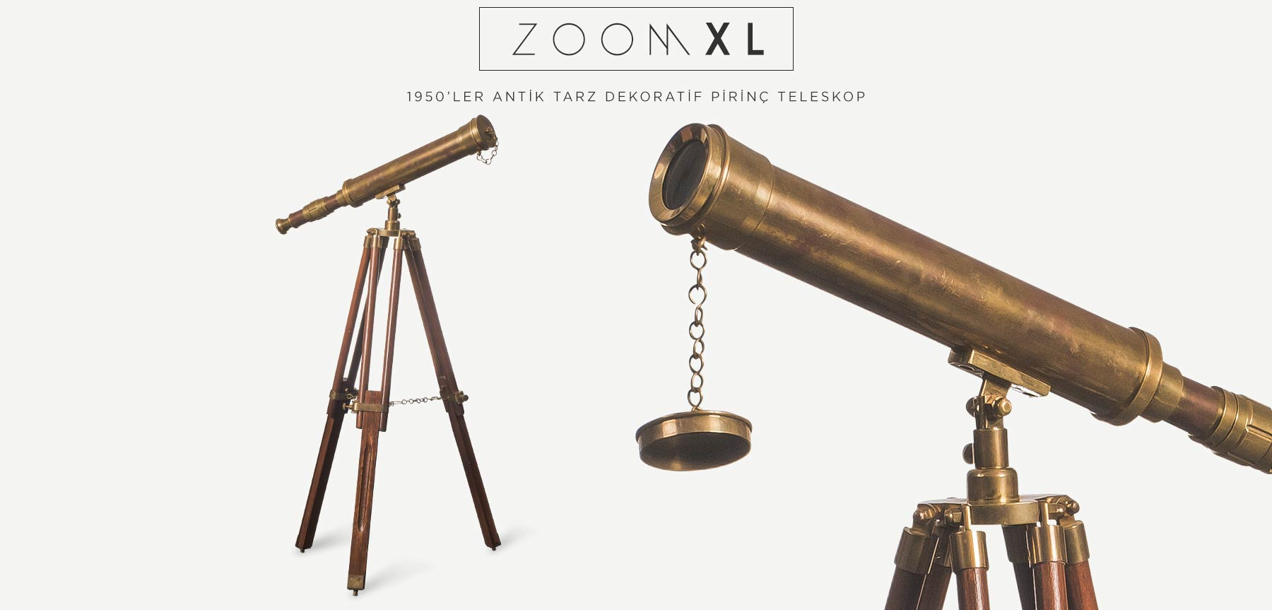 ZOOM XL ANTİK PİRİNÇ TELESKOP'in resmi