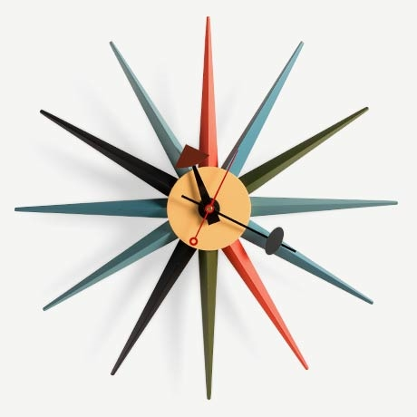 GEORGE NELSON SUNBURST CLOCK'in resmi
