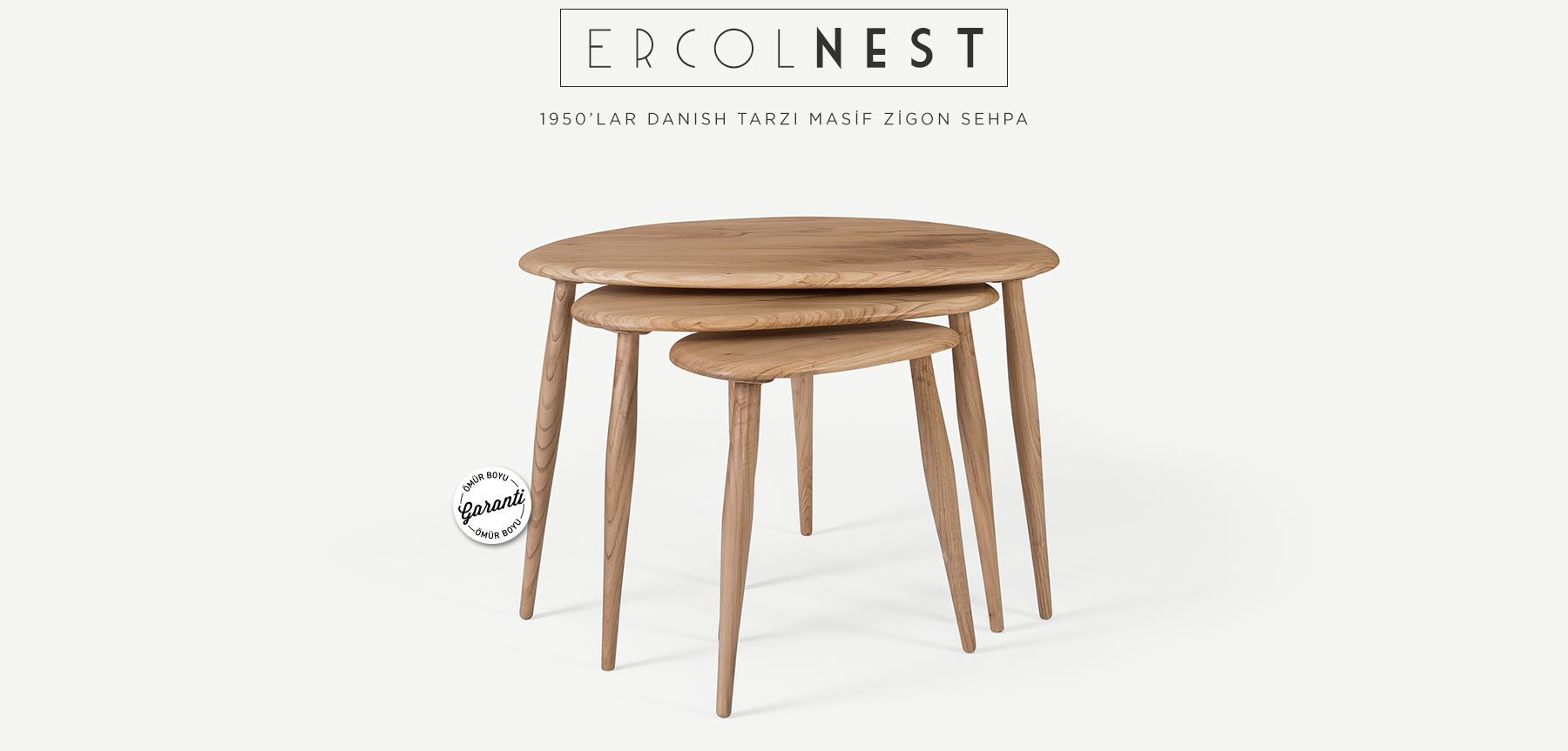 "Ercol ""Nest of Table"" Zigon Sehpa'in resmi"