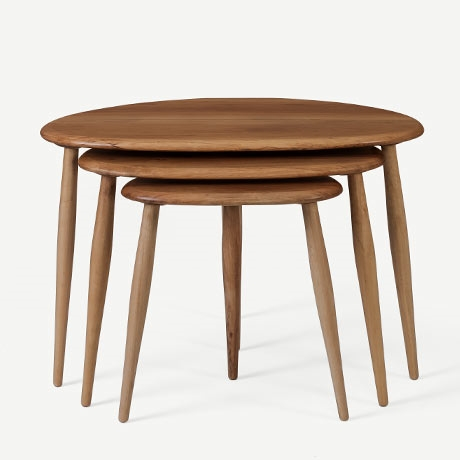 "ERCOL ""NEST OF TABLE"" ZİGON SEHPA'in resmi"