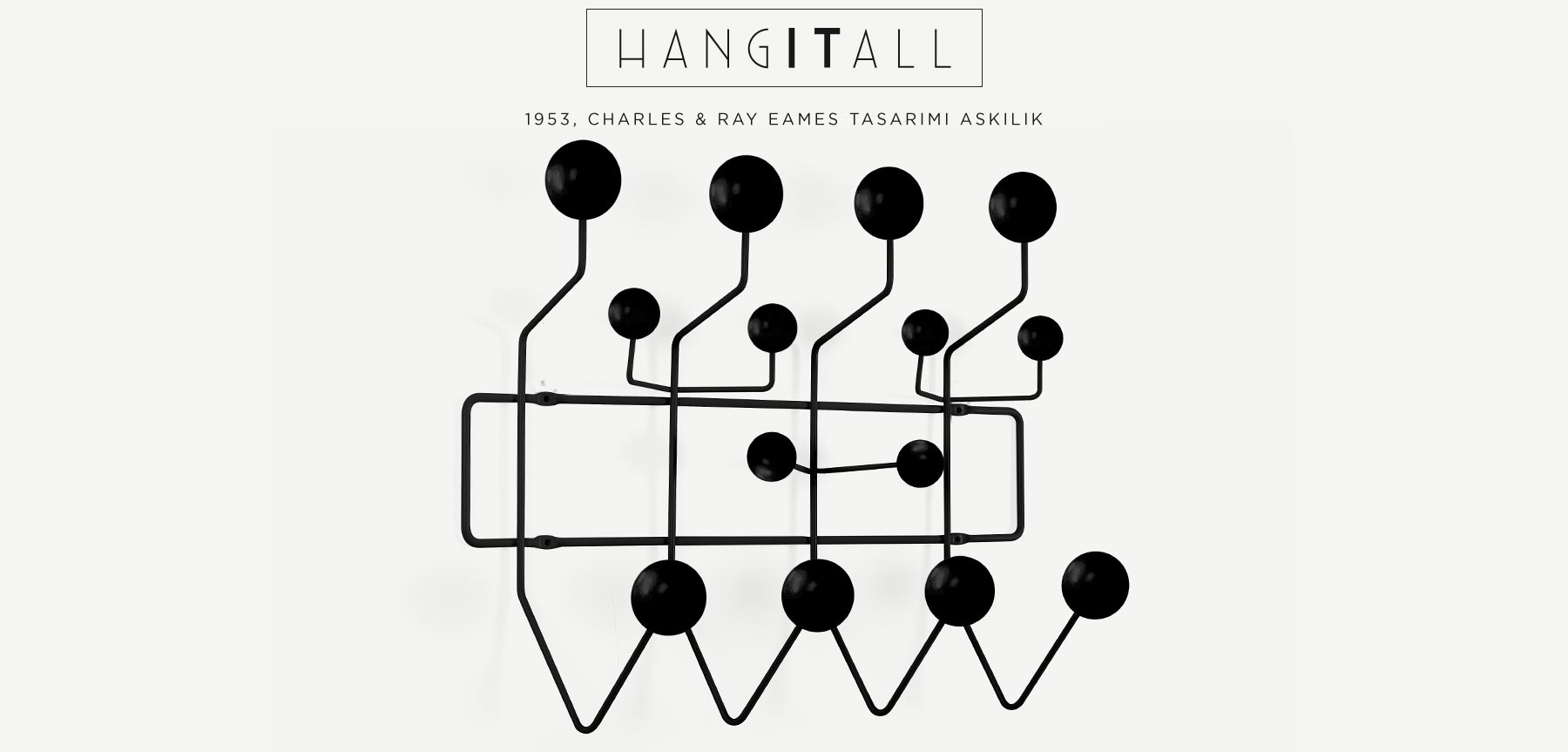 CHARLES EAMES HANG IT ALL SİYAH TOPLU ASKILIK'in resmi
