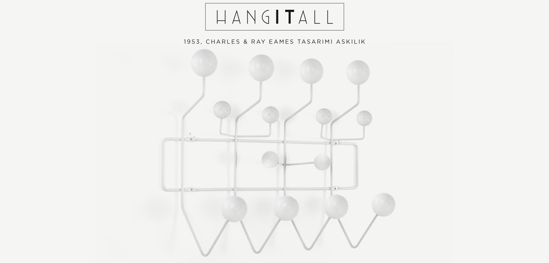 CHARLES EAMES HANG IT ALL BEYAZ TOPLU ASKILIK'in resmi