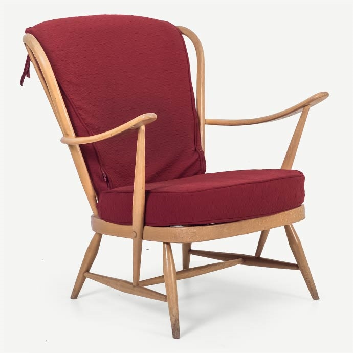 Ercol Vintage Easy Chair'in resmi