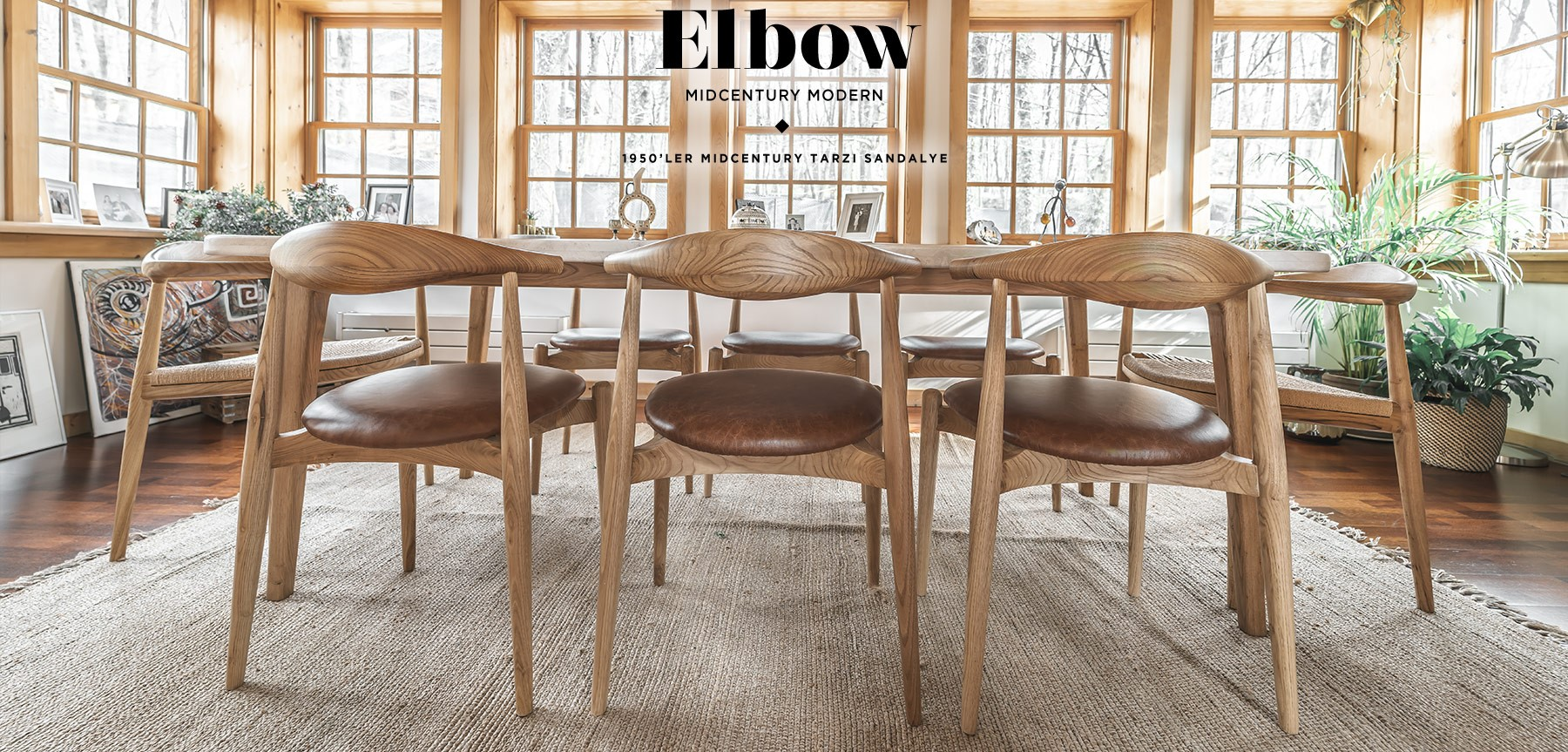 CH20 Elbow Chair Sandalye'in resmi