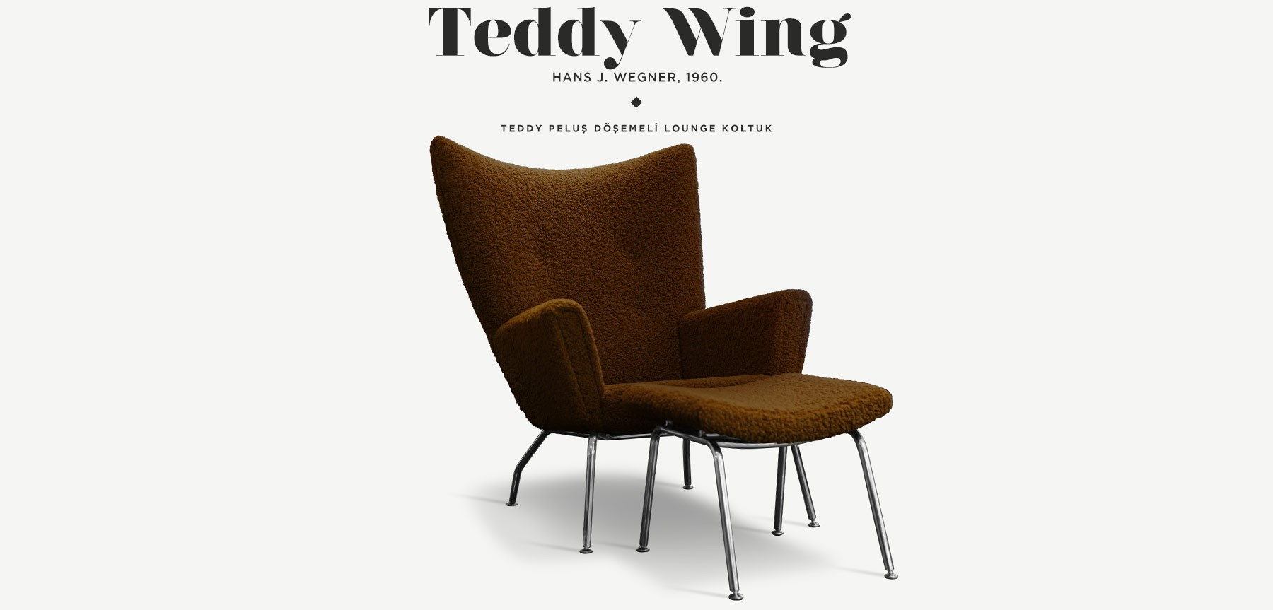 Wing Chair Teddy Edition Tobacco 'in resmi