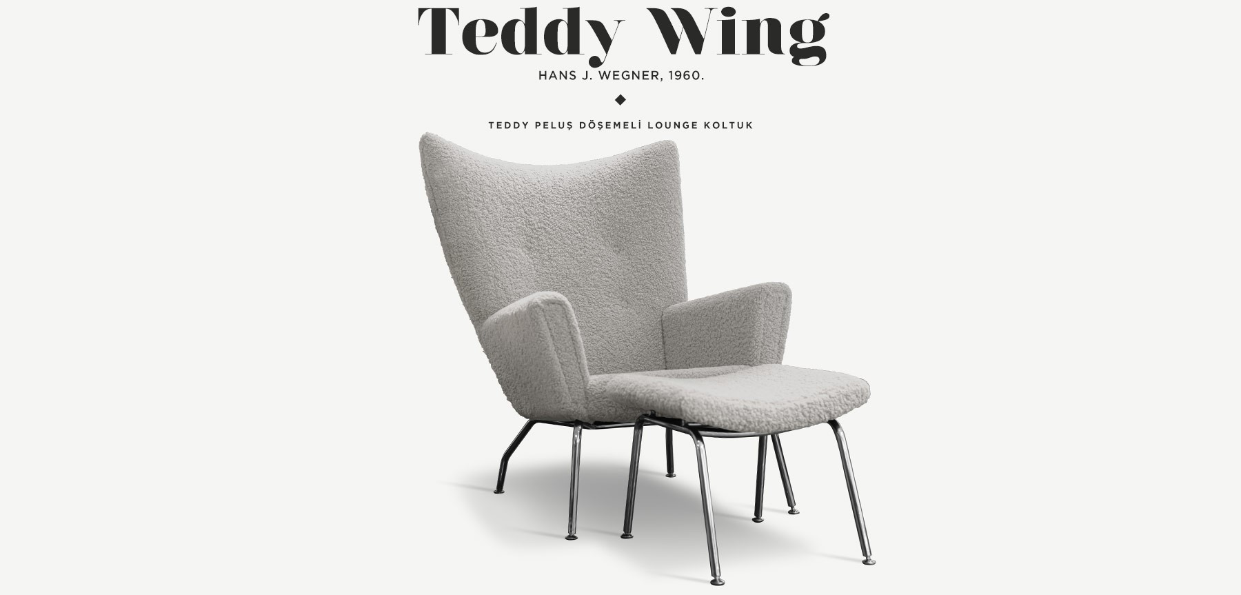 Wing Chair Teddy Edition Ekru'in resmi