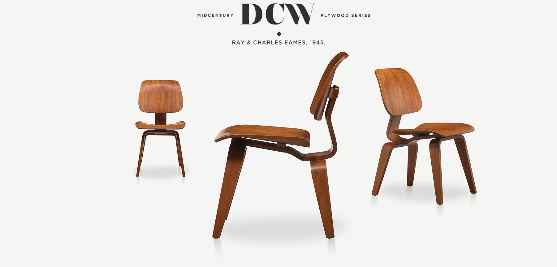 Eames Dining Chair Wood DCW 'in resmi