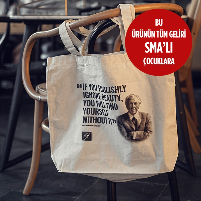 HAM BEZ TOTE BAG | FRANK LLOYD WRIGHT'in resmi